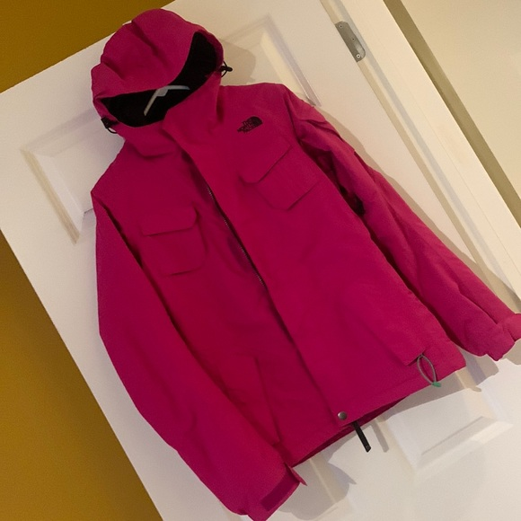 Almost new North Face Ski Jacket pink
